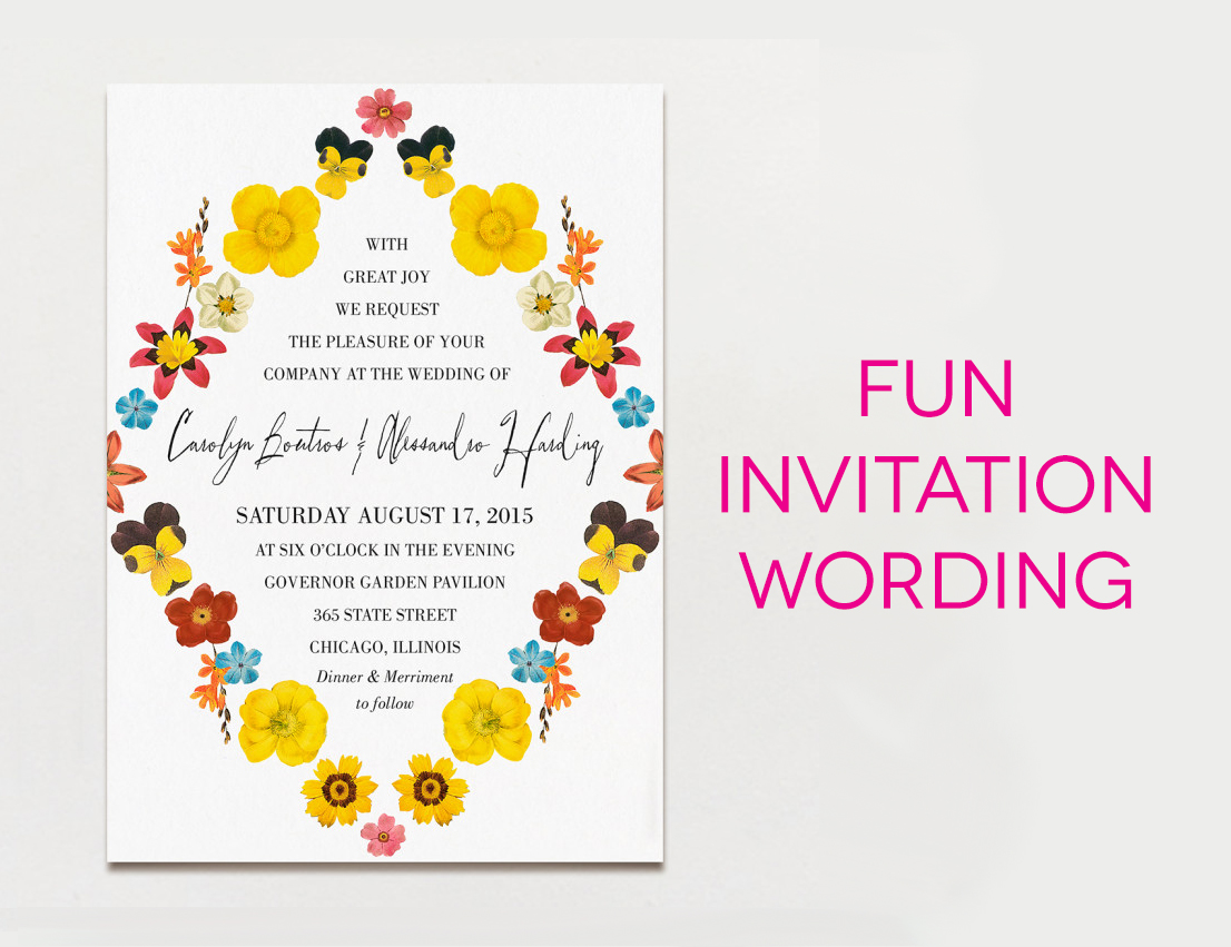 Wording For Invitations Wedding