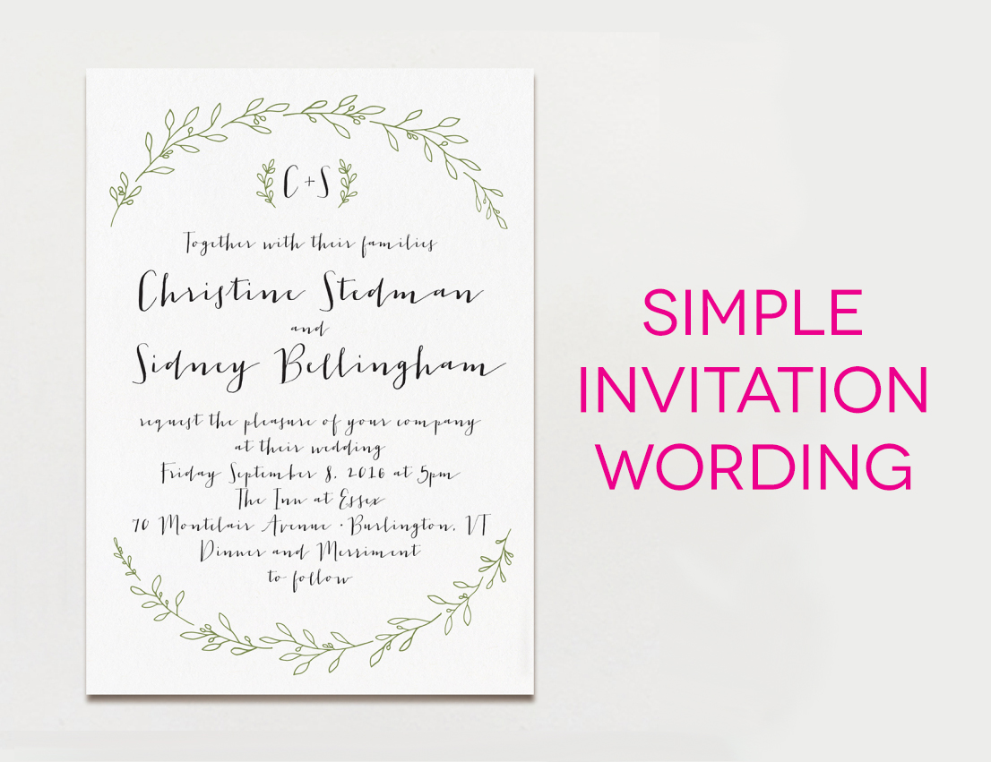 15 wedding invitation wording samples from traditional to fun With wedding invitations words sample