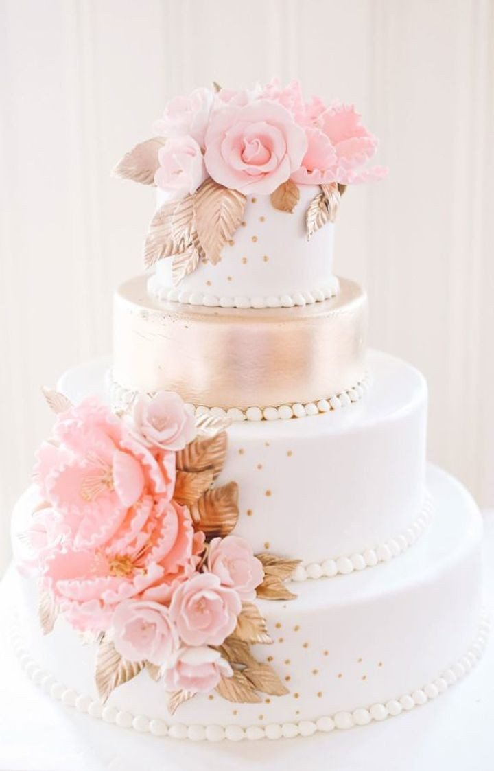 Subtle Texture Wedding Cakes